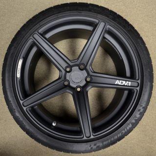 ADV1 Wheels Tires 5 1 SL 19 Lamborghini Gallardo Audi R8 Textured Black Forged