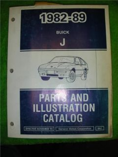 1982 89 GM Buick Skylark Parts Illustration Catalog Number Diagram Manual Book