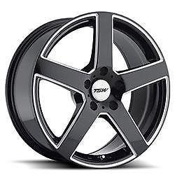 17 inch TSW Rivage Black Wheels Rims 5x4 25 Volvo XC60 XC70 XC90 Cougar Sable