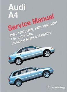 Audi A4 New Bentley Printed Service Manual 96 01 Book