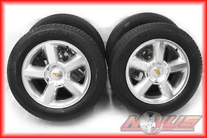 "20"" Chevy Tahoe LTZ Silverado GMC Yukon Polished Factory Wheels Tires 22"