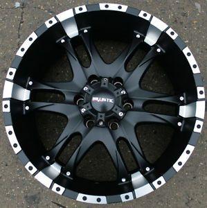 "Ballistic Off Road Wizard 810 20"" Black Rims Wheels GMC Yukon Silverado"