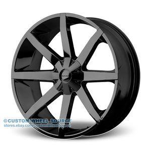 """26"""" KMC Slide Black Wheel Tire Package for Dodge Ford GMC Hummer Lincoln"""
