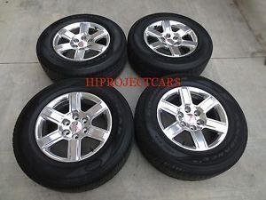 "Factory GMC Sierra 1500 Yukon 18"" Wheels and Tires"