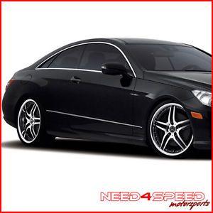 "19"" Mercedes Benz W212 E350 E550 E63 Roderick RW2 Black Staggered Wheels Rims"