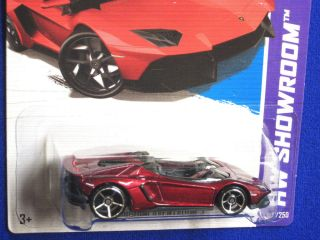 Hot Wheels 2013 Lamborghini Aventador J Deep Red w Black