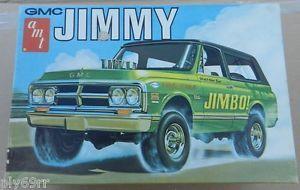 Original AMT Chevy GMC Jimmy Jimbo Blazer 4x4 Drag Model Kit Box Junkyard Parts