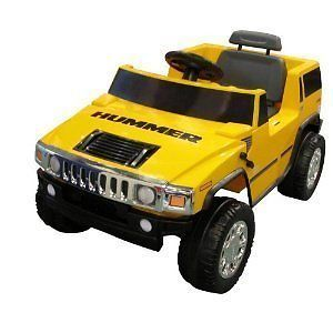 Boys Girl Yellow SUV Truck Childrens Electric Power Hummer H2 Wheels Ride on Car