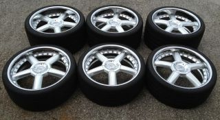 """6 20"""" Mercedes McLaren SLR Wheels Tires Rims CEC 7254 with 2 Spares"""