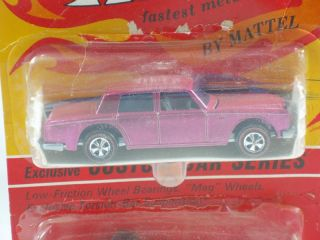 Hot Wheels Redline UK Twin Pak w Hot Pink Rolls Maserati BP Blisterpack RARE