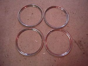"""16"""" Wheel Trim Rings 1929 31 33 36 37 38 39 40 41 42 46 47 48 Ford Chevy Buick"""