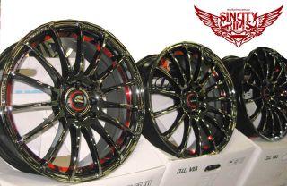 17x7 Black Chrome Red Wheels Rim Ford Holden Toyota Car