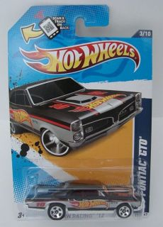 Hot Wheels 2012 HW Racing '67 Pontiac GTO Black w HW Window Logo Wal Mart Excl