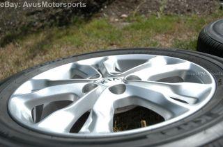 "2013 Kia Optima 17"" Factory Wheels Tires Amanti Soul 2012 2011 2010 2009"