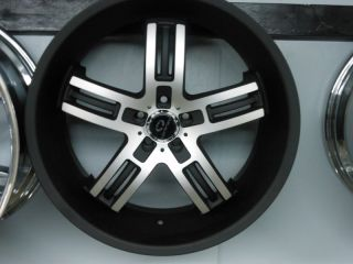 "22"" 22x9 22x10 5 Lorenzo WL26 Staggered 5x112 Matte Black Wheels Rims New"