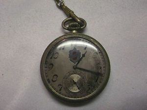 Vintage 1930 Elgin 7J Oldsmobile Pocket Watch Sz 12 Repair Parts Silveroid Case