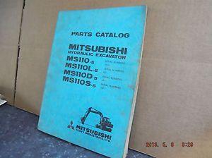 Mitsubishi MS110 Hydraulic Excavator Parts Book