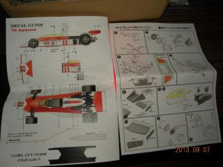 E Jan 1 12 McLaren M23 1976 Transkit for Tamiya F1 M23 Rain Tyre Ver James Hunt