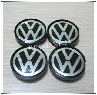 4pcs 55mm Wheel Center Caps Central Hub for VW Polo Golf Passat Bora Bettle
