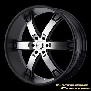 26 x10 KMC Wheels KM671 Brodie Matte Black Machined 6 Lug One Single Wheel Rim