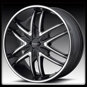 "20"" x 8 5"" KMC Splinter KM678 Black Patriot Routan FX50 Q45 F150 QX4 Wheels Rims"