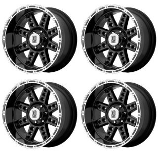 KMC XD766 Diesel XD76621013324 Rims Set of 4 20x10 24mm Offset 5x135 G Black