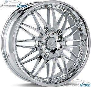 "18x7 5 Verde Regency 5x115 5x100 40mm Chrome Wheels Rims inch 18"""