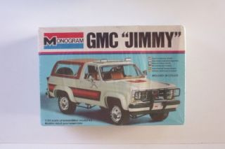 4x4 GMC Jimmy SUV 2248 Monogram 1 24 SEALED Model Kit Truck Vtg SUV