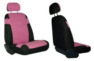 Pink Black Car Seat Covers w Steering Wheel Cover Pink Floor Mats More 4