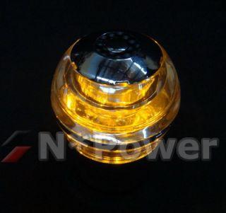 Crystal Orange LED Chrome Gear Shift Knob MX5 AE86 S13