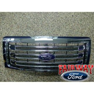 2009 thru 2014 F 150 Genuine Ford Parts Chrome Lariat Grille w Emblem New