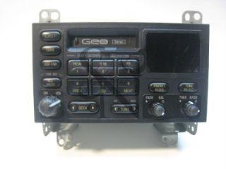 Geo Delco 30015807 in Car Dash Am FM Radio Cassette Deck Stereo Player