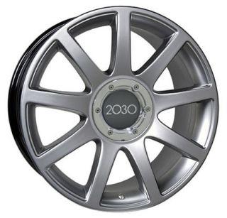"17"" Hyper Silver RS4 Style Wheels Rims Fit Audi A4 A6 A8 Allroad TT"