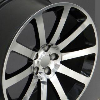 "20"" CL 300 SRT Wheel Black 20x9 Rim Fits Chrysler Dodge Charger Magnum SE SXT RT"