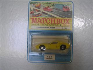 Matchbox Regular Wheels 33 Lamborghini Miura in Very RARE Blister Pack EX NM