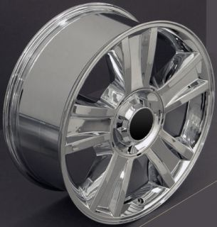 "20"" Chrome Tahoe Wheels Goodyear LS2 Tires Rims Fit GMC Chevrolet Cadillac"