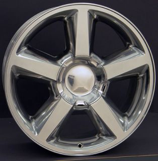 "22"" Tahoe Wheels Polished 22x9 Set of 4 Rims Fit Chevrolet GMC Cadillac"