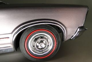 GTO Pontiac Classic Muscle Show Car 1960s Super Sport Silver 1 24 Scale Model LK