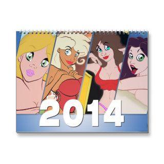Cartoon Pin Up Calendar 2014