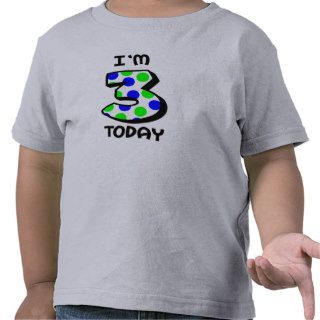 I'm 3 Today Boys Birthday Shirt