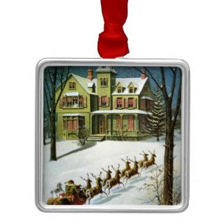 <A Miniature Sled, and Eight Tiny Reindeer> by Wil Christmas Ornaments