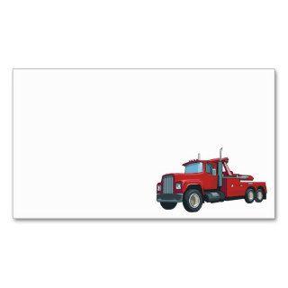 Truck0037 BIG RIG TRUCK RED TRANSPORTATION WORK Business Card Template