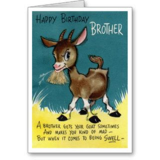 brother retro happy birthday card vintage retro birthday cards for all