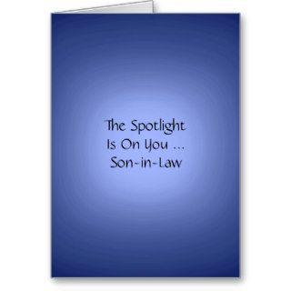 Happy Birthday, Son in Law, Blue spotlight Card