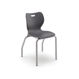 HON SmartLink 14 Stackable Student Chairs 25 x 17 x 17  Dark Gray Set Of 4