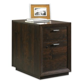 Sauder Forte Collection Pedestal File 24 78 H x 17 78 W x 25 38 D Dark Alder