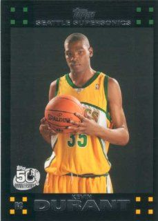 Kevin Durant 2007 2008 Topps Mint Condition Rookie Year Card #112 Picturing This Oklahoma City Thunder Star in His Seattle Supersonics Jersey!: Everything Else
