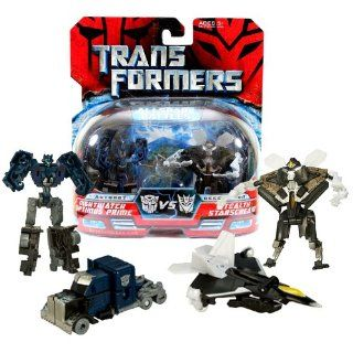 Hasbro Year 2007 Transformers Movies All Spark Battles Series 2 Pack Legends Class 3 Inch Tall Robot Action Figure   Autobot NIGHTWATCH OPTIMUS PRIME (Vehicle Mode: Rig Truck) vs Decepticon STEALTH STARSCREAM (Vehicle Mode: F 22 Raptor Jet): Toys & Gam