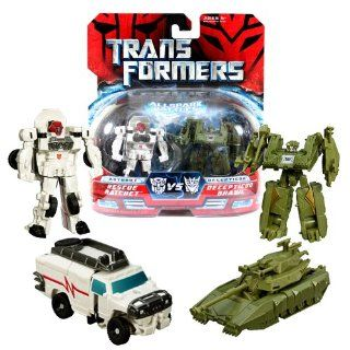 Hasbro Year 2007 Transformers Movies All Spark Battles Series 2 Pack Legends Class 3 Inch Tall Robot Action Figure   Autobot RESCUE RATCHET (Vehicle Mode: Hummer H2) vs Decepticon BRAWL (Vehicle Mode: Battle Tank): Toys & Games
