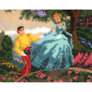 "Latch Hook Kit 21""X26"" Cinderella Wishes Upon A Dream MCG Textiles Latch Hook Kits"